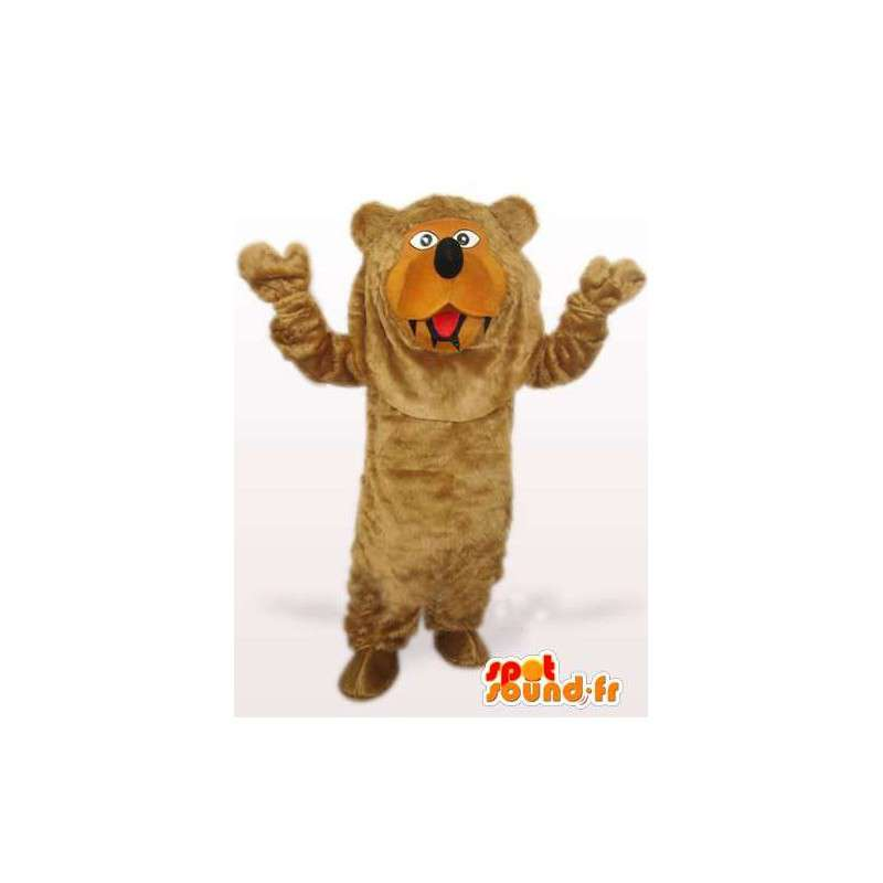 Bear mascot of the forest - brown tunic special celebrations - MASFR00771 - Bear mascot