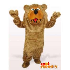 Μασκότ Αρκούδα Δάσος - Ειδική καφέ πουκάμισο για διακοπές - MASFR00771 - Αρκούδα μασκότ