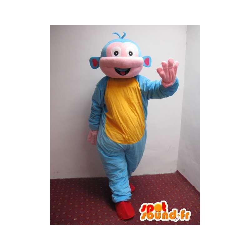 Mascot hombre del espacio extraterrestre con túnica estilo - MASFR00774 - Mascotas humanas
