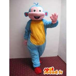 Spaceman stile tunica mascotte con alien - MASFR00774 - Umani mascotte