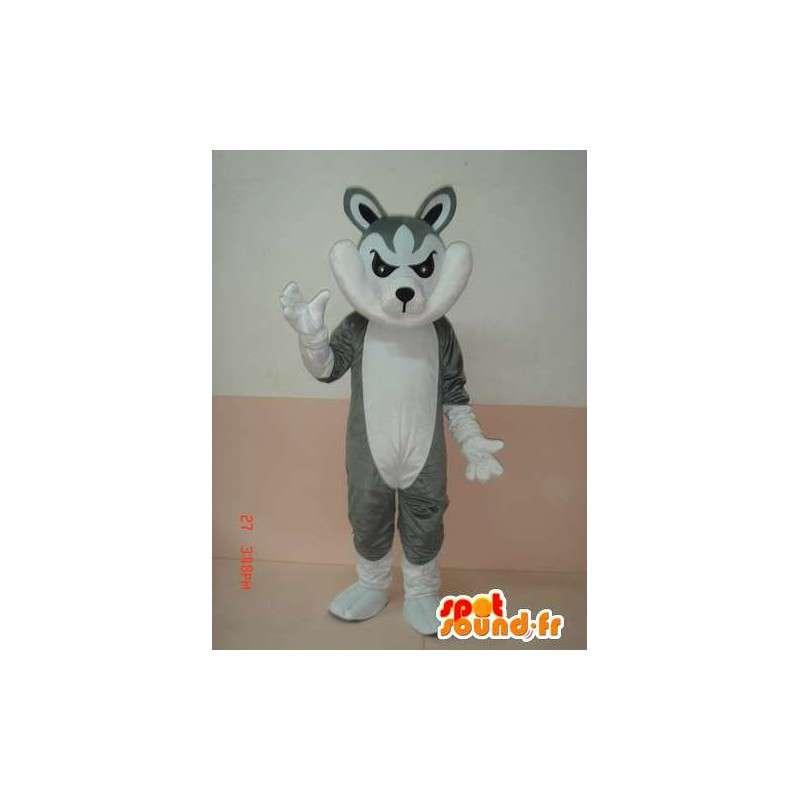 Harmaa ja valkoinen susi maskotti varusteineen - Party Puvut - MASFR00784 - Wolf Maskotteja