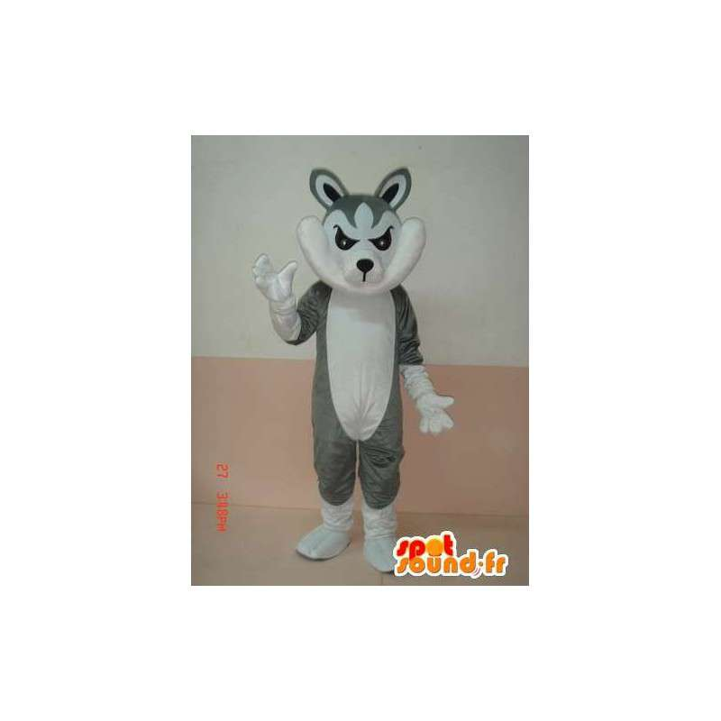 Mascot wolf gray and white with accessories - party costumes - MASFR00784 - Mascots Wolf