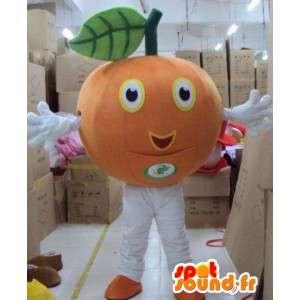 Mascotte de fruit mandarine/orange - Costume maraicher