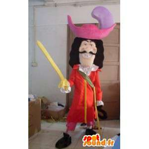 Pirate mascot - Cartoon - Captain Hook - Costume