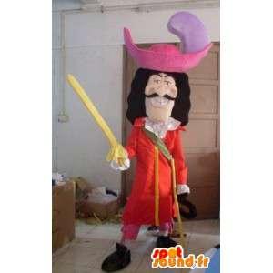 Pirate mascotte - Cartoon - Capitan Uncino - Costume