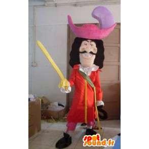 Maskot pirát - Cartoon - Kapitán Hook - Bižuterie - MASFR00794 - maskoti Pirates