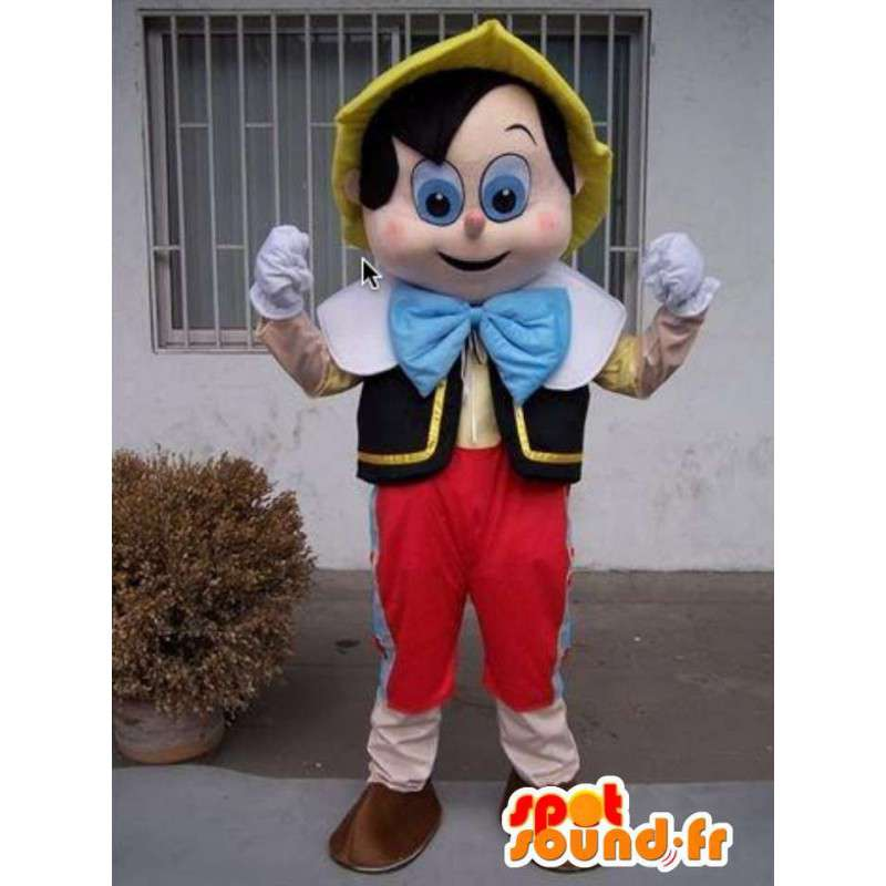 Pinocchio mascote - traje famoso - desenhos animados - MASFR00798 - mascotes Pinocchio