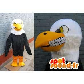 Mascotte klassieke gele adelaar, zwart en wit killer glimlach - MASFR00226 - Mascot vogels