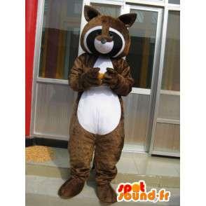 Raccoon maskotka - brązowy Ferret - Doskonale Seesmic - Szybka wysyłka - MASFR00273 - Maskotki szczeniąt