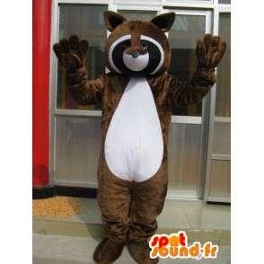 Raccoon mascotte - Ferret Brown - Ideale Seesmic - Trasporto veloce - MASFR00273 - Mascotte di cuccioli