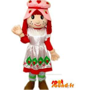 Mascot boer prinses jurk en kanten muts - MASFR00791 - Fairy Mascottes