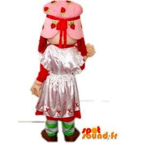 Mascotte princesse paysanne avec robe et bonnet en dentelle - MASFR00791 - Mascottes Fée