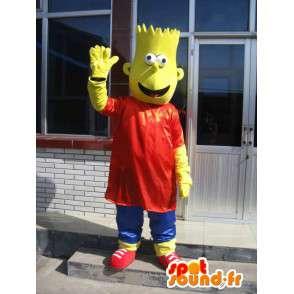 Mascotte Bart Simpson - The Simpsons disfarçados - MASFR00155 - Mascotes Os Simpsons