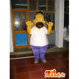 Costume mascotte Omer Simpson - Cartoon - Modello II - MASFR001018 - Mascotte Simpsons