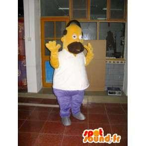 κοστούμι μασκότ Homer Simpson - Cartoon - Μοντέλο ΙΙ - MASFR001018 - Μασκότ The Simpsons