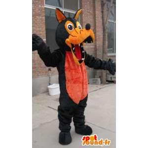 Mascot wolf bruin en oranje pluche - Costume weerwolf - MASFR00325 - Wolf Mascottes