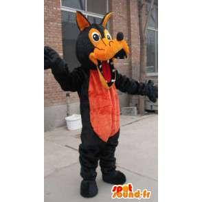 Μασκότ λύκος καφέ και πορτοκαλί βελούδο - Κοστούμια λυκάνθρωπος - MASFR00325 - Wolf Μασκότ