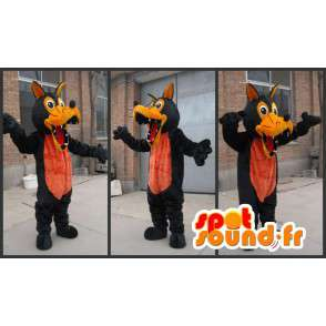 Wolf mascot plush brown and orange - Werewolf Costume - MASFR00325 - Mascots Wolf