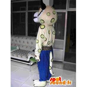 Mascote Tigre Kung Fu - calças azuis - karate Plush Especial - MASFR00247 - Tiger Mascotes