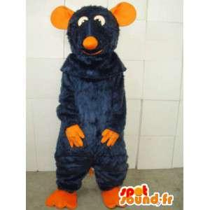 Oranje en blauwe muis mascotte kostuum speciale ratatouille
