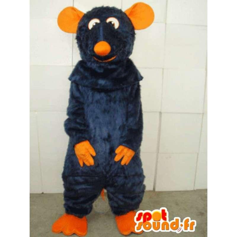 Mascotte souris orange et bleue spécial costume de ratatouille - MASFR00800 - Mascotte de souris