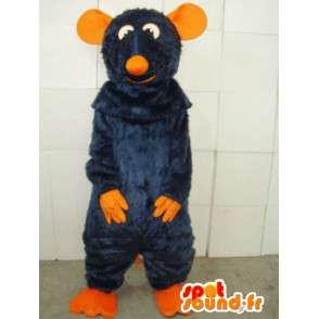 Orange und blaue Maus Maskottchen Kostüm Sonder Ratatouille - MASFR00800 - Maus-Maskottchen