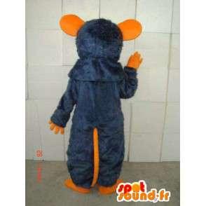 Oranžová a modrá myš maskot kostým speciální ratatouille - MASFR00800 - myš Maskot