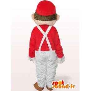 マリオマスコット白と赤 - 有名な配管工の衣装 - MASFR00801 - マリオマスコット
