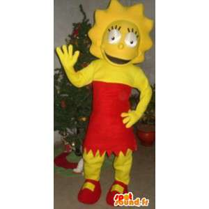 Mascote da família Simpson - Traje de Lisa Simpson - MASFR00814 - Mascotes Os Simpsons