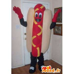 Maskotti Sandwich hot dog - hot dog varusteineen - MASFR001020 - koira Maskotteja