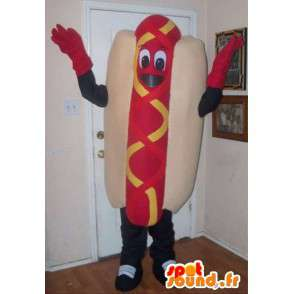 Mascot Sandwich hot dog - hotdog met toebehoren - MASFR001020 - Dog Mascottes