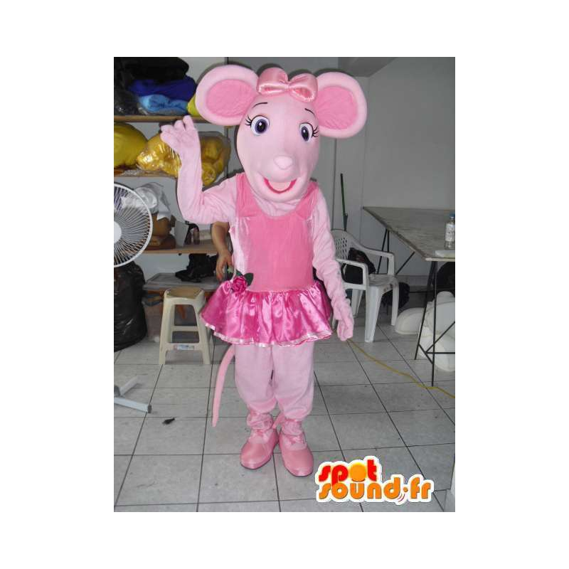 Mascota del cerdo rosado con la danza del tutú como accesorio - MASFR00802 - Las mascotas del cerdo