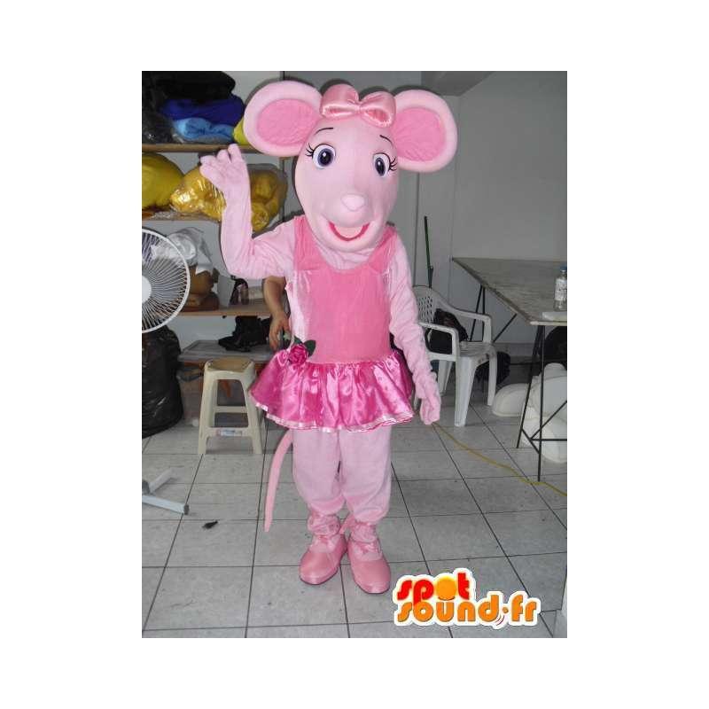 Różowy świnia maskotka taneczne tutu jako akcesorium - MASFR00802 - Maskotki świnia