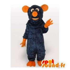 Oranje en blauwe muis mascotte kostuum speciale ratatouille - MASFR00800 - Mouse Mascot