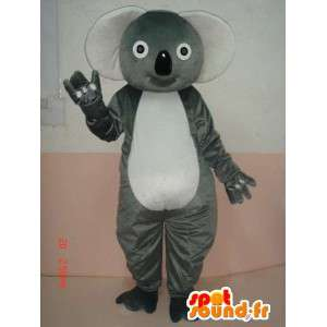 Koala Mascot - gray bamboo panda costume fast dispatch