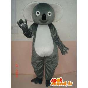 Mascotte Koala gris - Costume de bambou panda envoi rapide