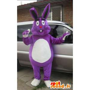 Aangepaste Mascot - Purple Rabbit - Large - Model Special
