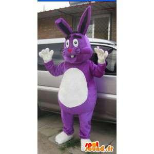 Aangepaste Mascot - Purple Rabbit - Large - Model Special - MASFR001033 - Mascot konijnen