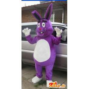 Mascotte Personnalisée - Lapin Violet - Gros - Modèle special - MASFR001033 - Mascotte de lapins