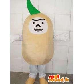 Mascotte légume style navet spécial maraicher pour promotions - MASFR00749 - Mascotte de légumes