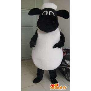 Zwarte en witte schapen mascotte - Ideaal voor promoties - MASFR00596 - schapen Mascottes