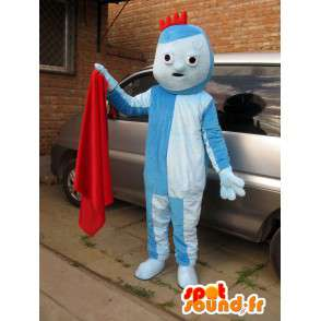 Mascot Costume blue troll with small red crest - MASFR00707 - Mascots 1 Elmo sesame Street