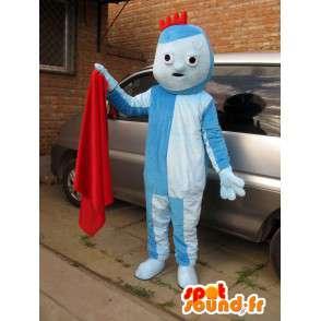 Modrý oblek troll maskot s malým červeným hřebenem - MASFR00707 - Maskoti 1 Sesame Street Elmo