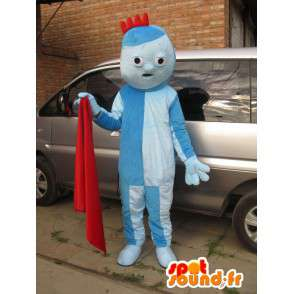 Mascota azul duende traje con una pequeña cresta roja - MASFR00707 - Sésamo Elmo mascotas 1 Street