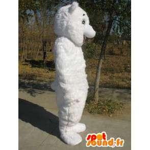 Mascotte Ours blanc - Déguisement de qualité en fibres - MASFR00152 - Mascotte d'ours