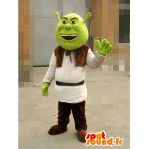 Mascote Shrek - Ogre - disfarce transporte rápido