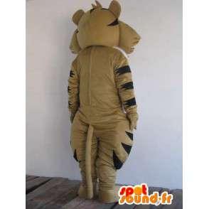 Raccoon mascotte marrone e strisce nere - Trasporto veloce - MASFR00823 - Mascotte di cuccioli