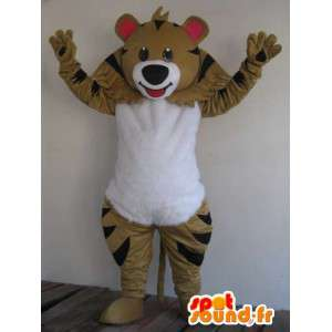 Raccoon mascot brown and black stripes - Fast shipping