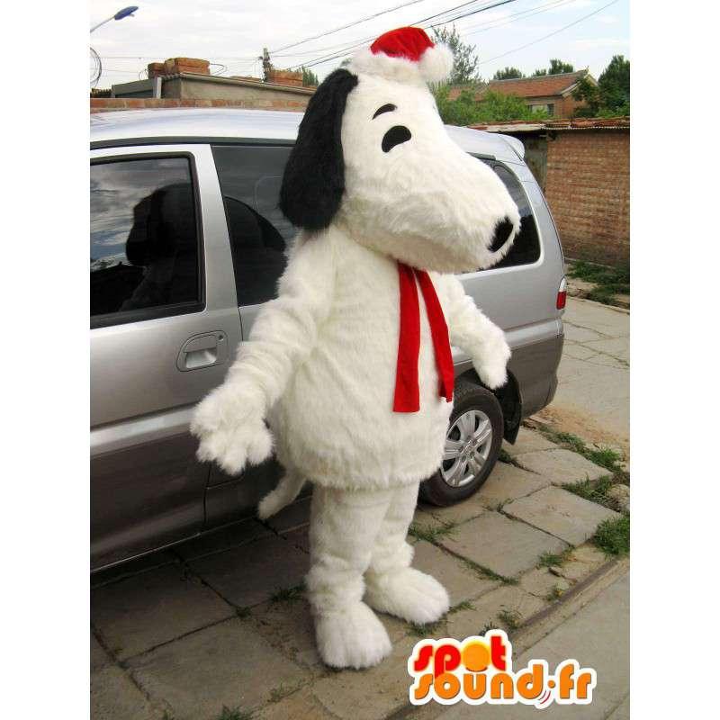 ぬいぐるみの犬のマスコットスヌーピーとクリスマスアクセサリー - MASFR00825 - 犬マスコット