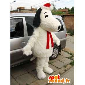 Wypchany pies maskotka Snoopy i świąteczne akcesoria - MASFR00825 - dog Maskotki